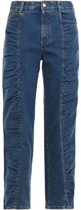 Stella McCartney Ruched Mid-rise Straight-leg Jeans
