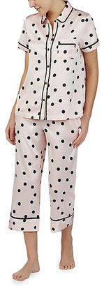 Kate Spade Polka Dot Short-Sleeve Pajama Set