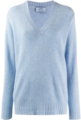 Prada Loose V-Neck Jumper