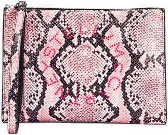 Stella McCartney Snake Zip Pouch in Pale Pink | FWRD