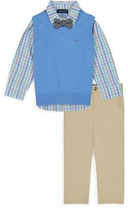 Andy & Evan Baby Boy's 4-Piece Sweater Vest & Pant Set