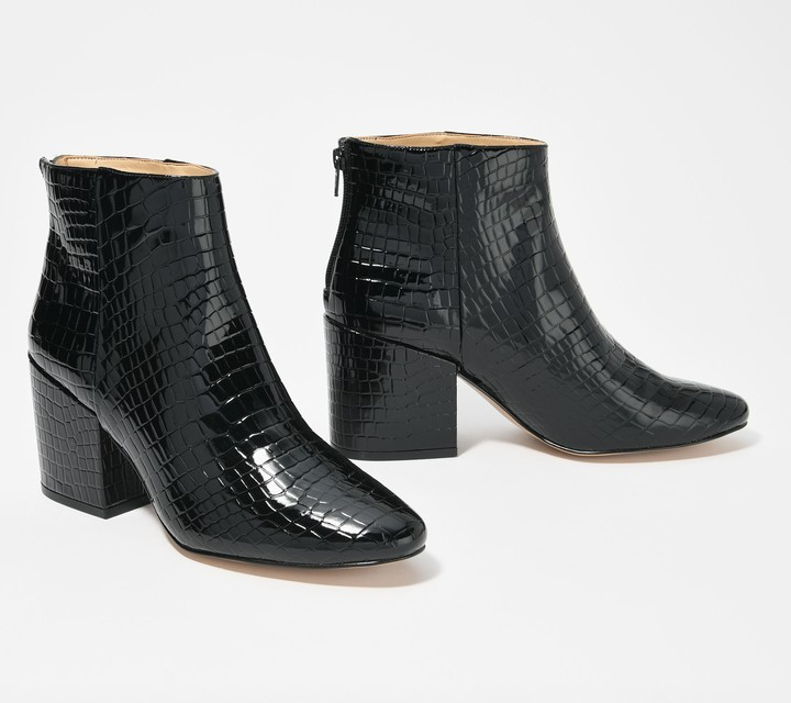 Katy Perry Croco Embossed Ankle Boots - The Hudson