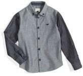 Armani Junior Colorblock Chambray Dress Shirt (Little Boys & Big Boys)