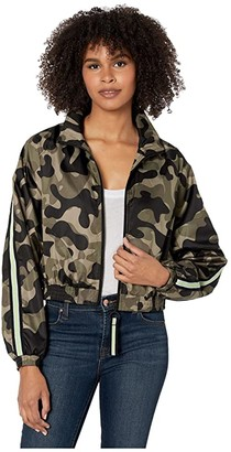 Blanc Noir Camo Windbreaker (Camo) Women's Clothing