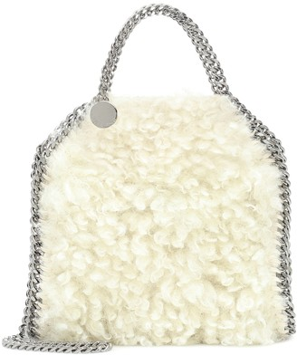 Stella McCartney Falabella Tiny faux shearling tote
