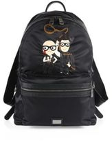 Dolce & Gabbana Graphic Double Zip Backpack