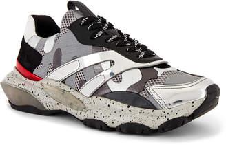 Valentino Bounce Sneaker in Silver & Black | FWRD