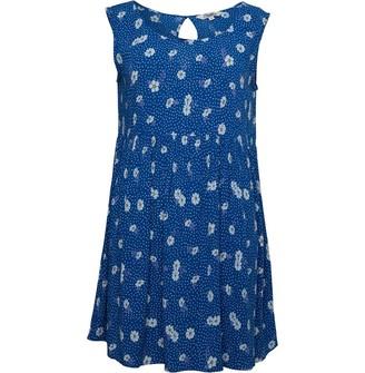 Ribbon Womens Floaty Dress Blue/White