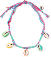 Aurelie Bidermann Takayama braided cord and shell necklace