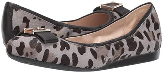 Cole Haan Emory Bow Ballet Flat (Titanium Combo Mercer Ocelot Print/Black Leather) Women's Shoes
