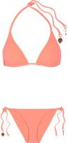 Stella McCartney Embellished Triangle Bikini - Coral