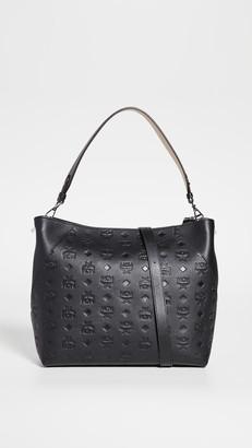 MCM Leather Medium Hobo Bag