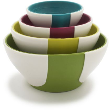 Chef'N Trendy Colors Pinch and Pour Nesting Prep Bowls