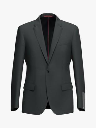 HUGO BOSS by Henry204 Check Virgin Wool Blend Slim Fit Blazer, Charcoal