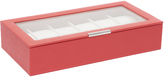 Wolf 12pcs Watch Tray with Lid, Coral