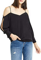 Oasis Split Sleeve Going Out Top, Black