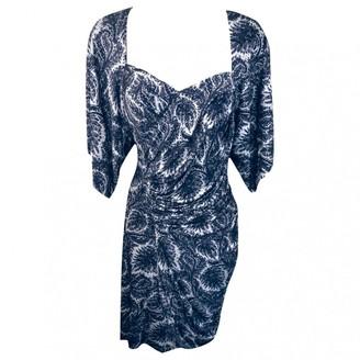 Yigal Azrouel Navy Silk Dress for Women