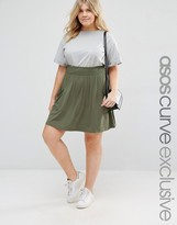 Asos Skater Skirt with shirred Waist and Pockets