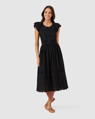 French Connection Broderie Midi Dress