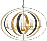 The Well Appointed House Eight Light Bronze and Gold Sphere Chandelier