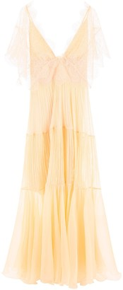 Maria Lucia Hohan Laced Cape Tiered Gown