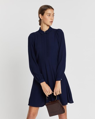 Whistles Agata Pintuck Shirt Dress