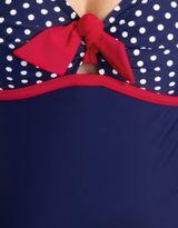 Figleaves maternity Marine Spot Halter Maternity Swimsuit
