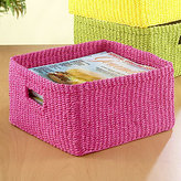 Madison Storage Basket, Beetroot