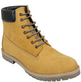 Yours Clothing Sand Nubuck LEATHER Lace-Up Boot Wide Fit