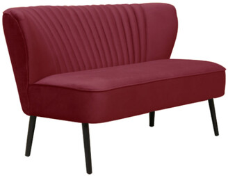 Darcy And Duke Coco Two Seater Sofa Merlot With Black Legs