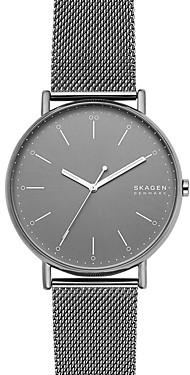 Skagen Signatur Gray Mesh Bracelet Watch, 45mm