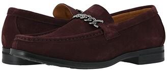 Stacy Adams Norwood Moc Toe Bit Slip-On (Black Suede) Men's Shoes