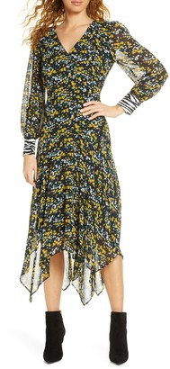 Sam Edelman Ditzy Handkerchief Hem Midi Dress