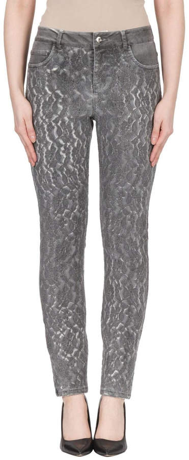 Joseph Ribkoff Grey Lace Jean