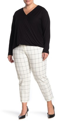 Amanda & Chelsea Plaid Printed Pants (Plus Size)