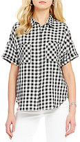 Levi's Holly Short-Sleeve Gingham Twill Button-Front Shirt