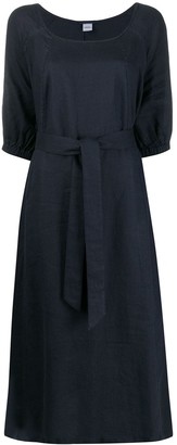Aspesi 3/4 Sleeves Tie-Waist Dress