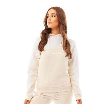Closure London Womens Panelled Hoodie Stone