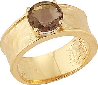 Reiss I. 14K 1.50 Ct. Tw. Smokey Topaz Color Stone Ring