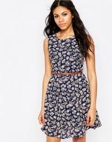 Iska Floral Print Belted Dress