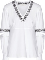 Thakoon Embroidered cutout cotton-blend top