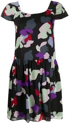 Emporio Armani Floral Print Mini Dress