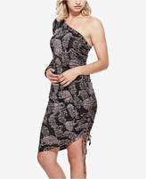 GUESS Ember Printed One-Shoulder Dress