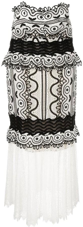 Sea Woven Embroidered Midi Dress