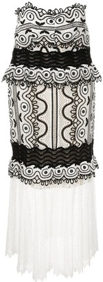 Sea woven embroidered midi dress