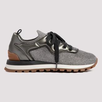 Brunello Cucinelli Knit Low-Top Sneakers
