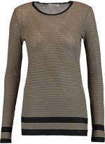 Sonia Rykiel Striped metallic cotton and silk-blend top