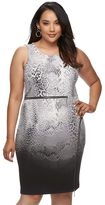 JLO by Jennifer Lopez Plus Size Zippered Sheath Dress