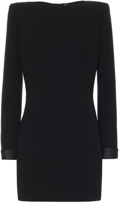 Saint Laurent Wool-crepe minidress