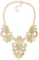 ABS by Allen Schwartz Gold-Tone Sequin Swirl Bib Necklace